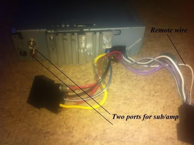 JVC Head Unit - remote wire sub/amp problem, help ... Jvc Kd Sx Bt Wiring Diagram on
