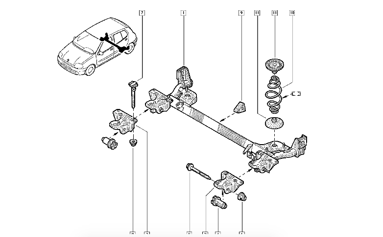 parts diagram for rear axle  brakes etc