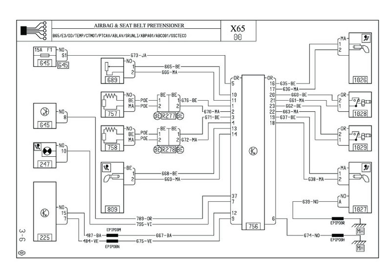 rover 75 airbag wiring diagram efcaviation