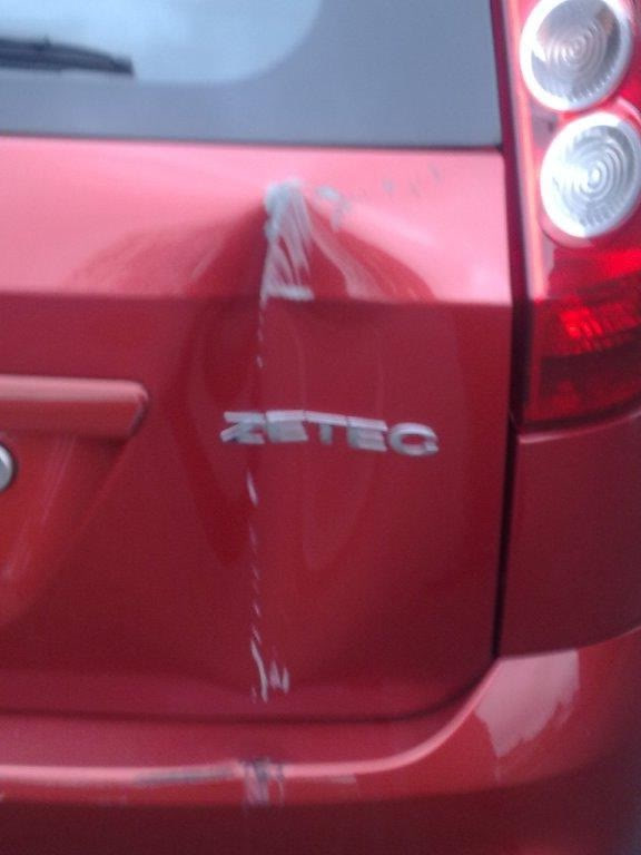 Tailgate dent repairs after reversing accident   ClioSport net