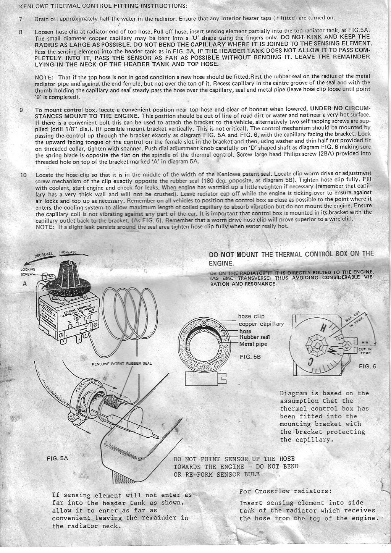 Kenlowe Fan Wiring Diagram 26 Images Automotive Electric A Slimline Cliosport Net At