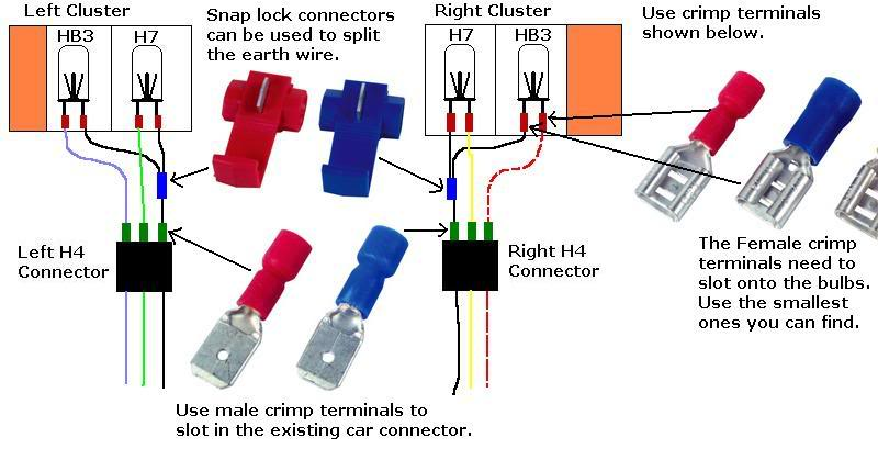 Renault Clio Sport 172 Wiring Diagram : Mk ph headlight wiring loom cliosport