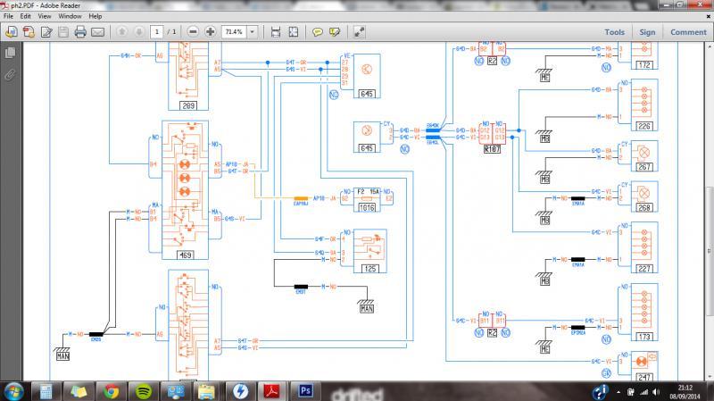 Wiring Diagram for PH PH2 Hazard switch ClioSportnet