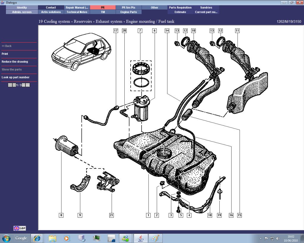Renault Clio Fuel System Diagram Schematic Diagrams Engine Parts People Help Please Needed Cliosport Net 2017 Ph2fueltank