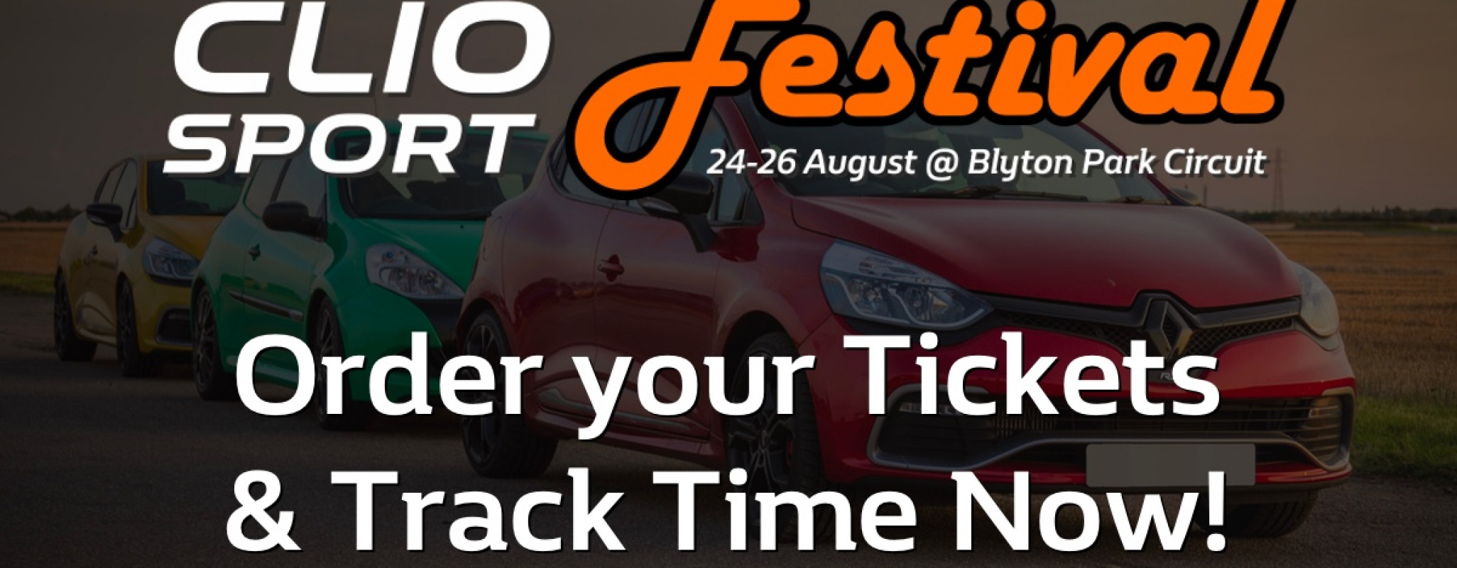 ClioSport Festival 2018 - Book Tickets & Track Time Now!